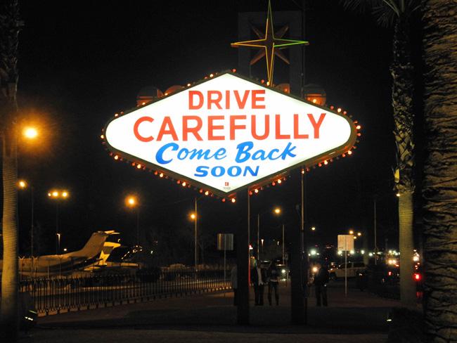 "Die Rückseite des ""Fabulous Las Vegas""-Schildes // © Sarah Geßner"
