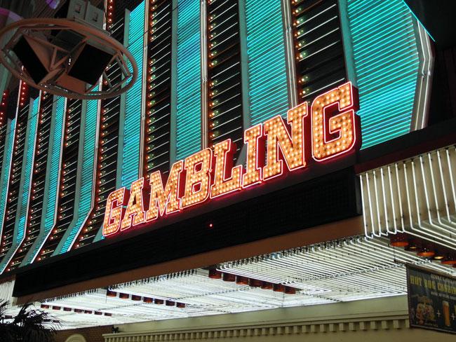 Gambling auf der Fremont Street - Las Vegas // © Sarah Geßner
