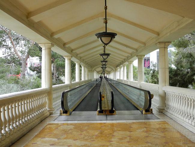 Moving Walkway am Hotel Bellagio - Las Vegas // © Sarah Geßner